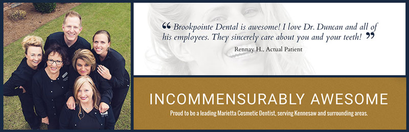 Marietta cosmetic dentist, dr. duncan's about us page screenshots
