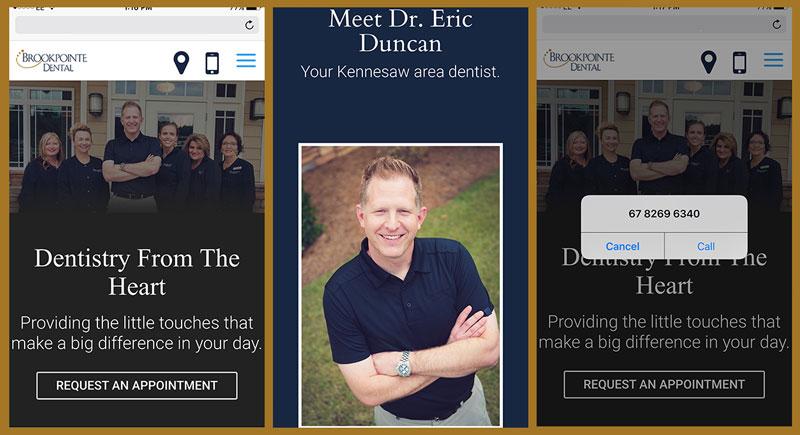 Eric Duncan New Mobile Website Screenshots