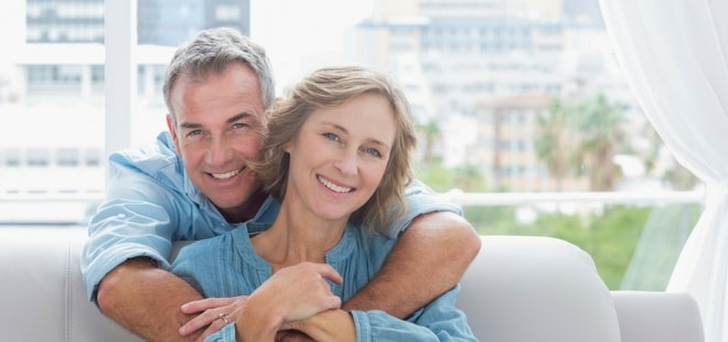 Image of senior couple enjoying their smiles because of restorative dentistry