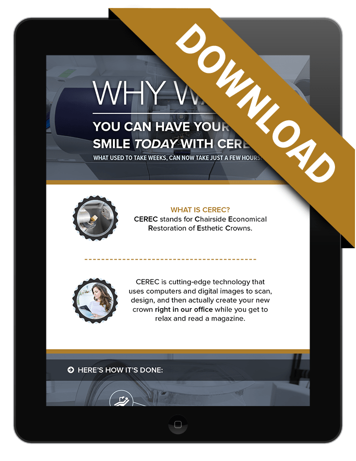 Preview graphic of our free Same Day Crowns Infographic download
